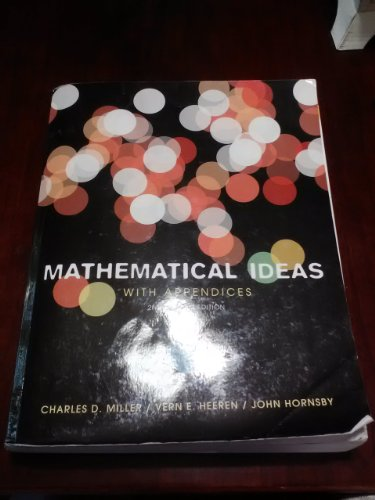 Mathematical Ideas with Appendices  2nd edition cover