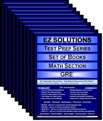 EZ Solutions: Test Prep Series: Set of Books: Math Section : GRE (9 Books)  2011 edition cover