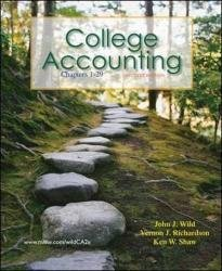 College Accounting : Chapters 1-29 2nd 2011 9780078136672 Front Cover