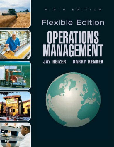 Operations Management  9th 2009 edition cover