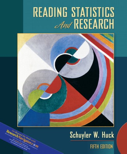 Reading Statistics and Research  5th 2008 edition cover