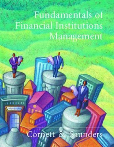 Fundamentals of Financial Institutions Management   1999 9780256253672 Front Cover