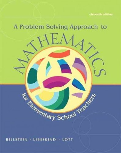 Mathematics Activities for Elementary School Teachers, Problem Solving Approach to Mathematics, and MyMathLab -- Valuepack Access Card  11th 2013 edition cover