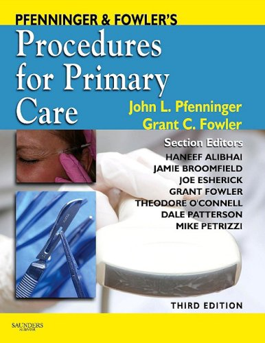 Pfenninger and Fowler's Procedures for Primary Care  3rd 2010 edition cover