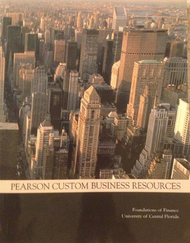 PEARSON CUSTOM BUSINESS RESOUR N/A edition cover