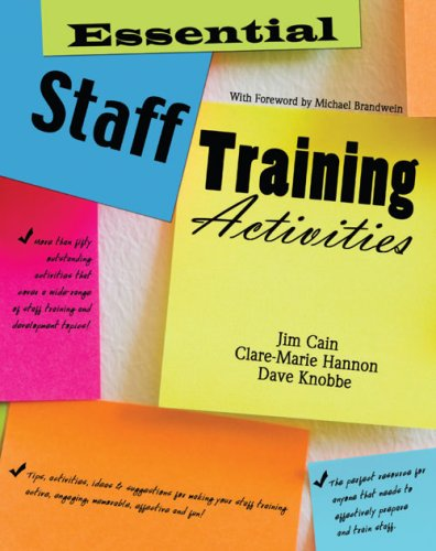 Essential Staff Training Activities  Revised 9780757561672 Front Cover