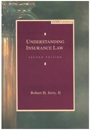 Understanding Insurance Law 2nd 1996 edition cover