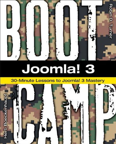 Joomla! 3 Boot Camp 30-Minute Lessons to Joomla! 3 Mastery  2015 edition cover