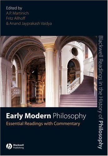 Early Modern Philosophy Essential Readings with Commentary  2007 edition cover