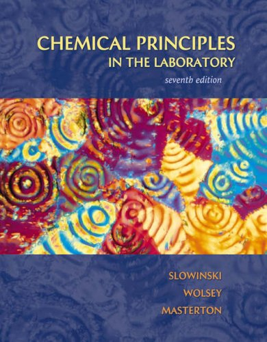 Chemical Principles in the Laboratory  7th 2000 9780030311673 Front Cover