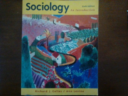 Sociology An Introduction 6th 1999 edition cover