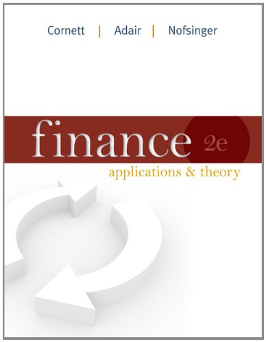 Finance Applications and Theory 2nd 2012 edition cover