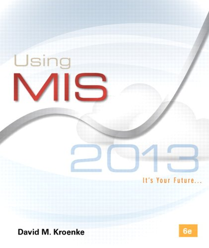 Using MIS  6th 2014 edition cover