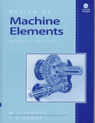 Design of Machine Elements  7th 1998 edition cover