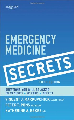 Emergency Medicine Secrets  5th 2011 edition cover