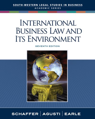 International Business Law and Its Environment  7th 2009 edition cover