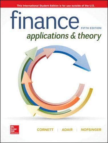 Finance Applications and Theory 5e N/A 9781260566673 Front Cover