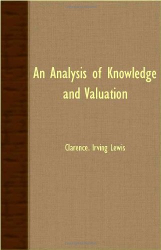 Analysis of Knowledge and Valuation   2007 9781406751673 Front Cover