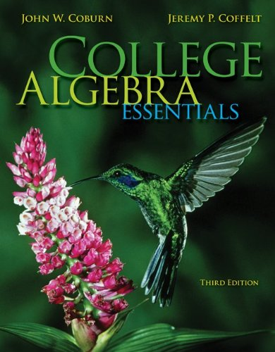 Student Solutions Manual for College Algebra Essentials  3rd 2014 edition cover