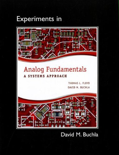 Lab Manual for Analog Fundamentals A Systems Approach  2013 edition cover