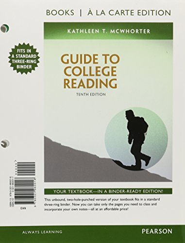 Guide to College Reading, Books a la Carte Edition Plus MyReadingLab with EText - Access Card Package  10th 2015 edition cover
