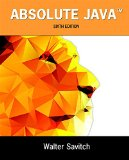 Absolute Java:   2015 edition cover
