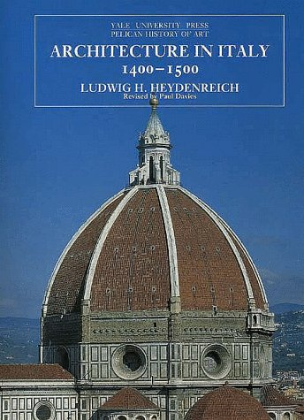 Architecture in Italy, 1400-1500  2nd 1996 (Revised) edition cover