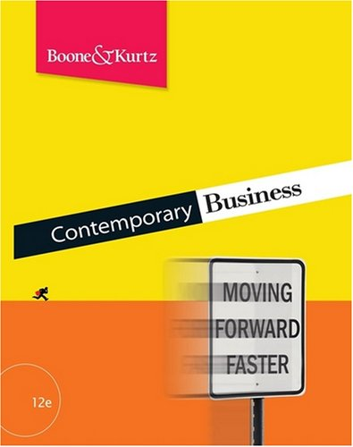 Contemporary Business, with Audio CD  12th 2009 9780470424674 Front Cover