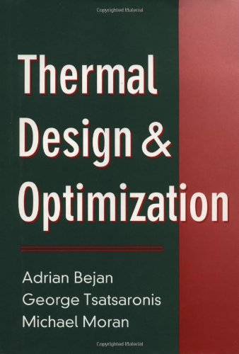 Thermal Design and Optimization  1st 1995 edition cover