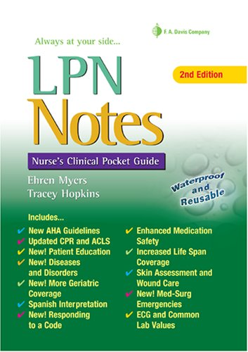 LPN Notes Nurse's Clinical Pocket Guide 2nd 2008 (Revised) edition cover