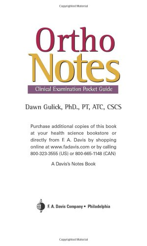 Ortho Notes Clinical Examination Pocket Guide 2nd 2008 (Revised) edition cover