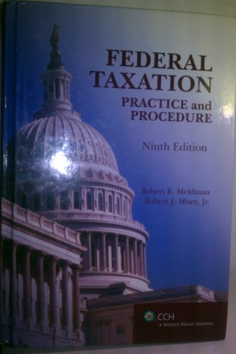 Federal TaxationPractice and Procedure (9th Edition) 9th edition cover