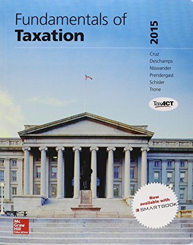 Fundamentals of Taxation 2015 + Taxact + Connect Access Card:   2014 9781259570674 Front Cover