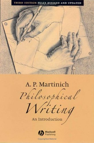 Philosophical Writing An Introduction 3rd 2005 (Revised) edition cover