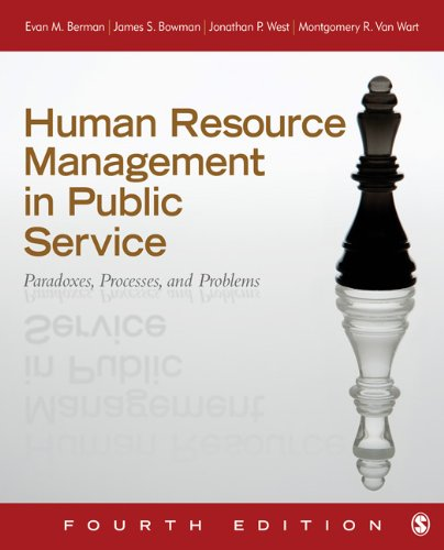 Human Resource Management in Public Service Paradoxes, Processes, and Problems 4th 2013 edition cover