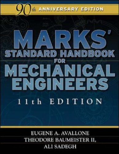 Marks' Standard Handbook for Mechanical Engineers  11th 2007 (Revised) edition cover