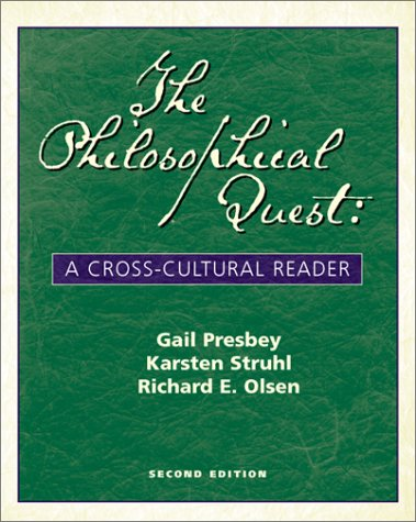 Philosophical Quest A Cross-Cultural Reader 2nd 2000 edition cover