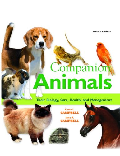 Companion Animals Their Biology, Care, Health, and Management 2nd 2009 edition cover