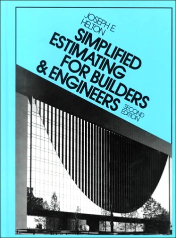 Simplified Estimating for Builders and Engineers  2nd 1992 edition cover
