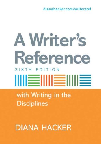 With Writing in the Disciplines 6th 2007 edition cover
