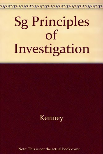 Principles of Investigation 2nd 9780314039675 Front Cover