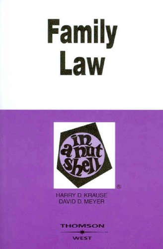 Family Law in a Nutshell  5th 2007 (Revised) edition cover