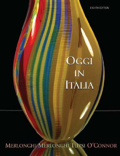 Oggi in Italia A First Course in Italian 8th 2007 edition cover