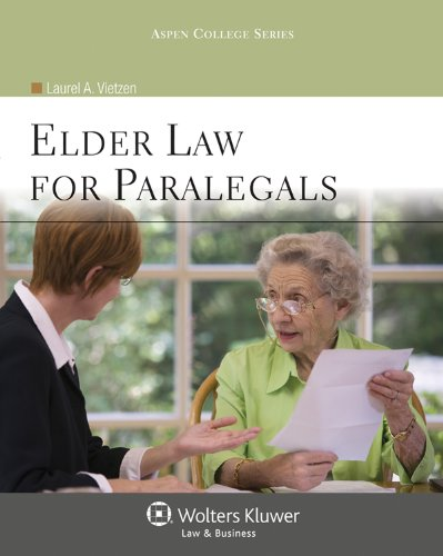 Elder Law for Paralegals   2011 edition cover