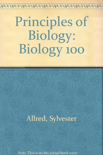 Principles of Biology Biology 100 Laboratory Manual 2nd (Revised) edition cover