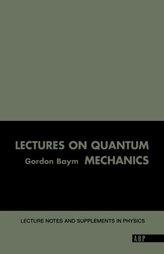 Lectures on Quantum Mechanics Lecture Notes and Supplements in Physics N/A edition cover