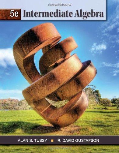 Intermediate Algebra  5th 2013 edition cover