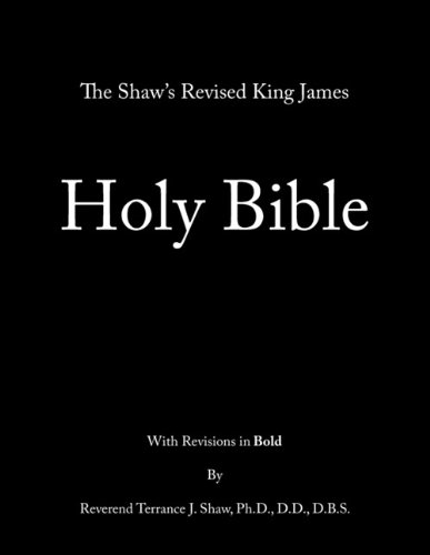 Shaw's Revised King James Holy Bible   2010 edition cover