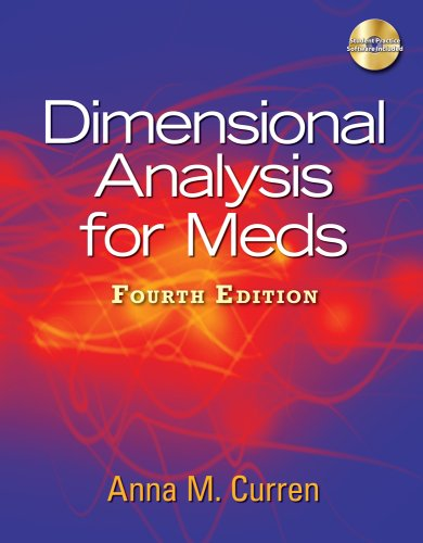 Dimensional Analysis for Meds  4th 2010 edition cover
