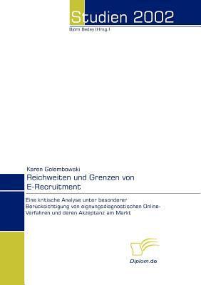 Reichweiten und Grenzen Von E-Recruitment   2008 9783832455675 Front Cover